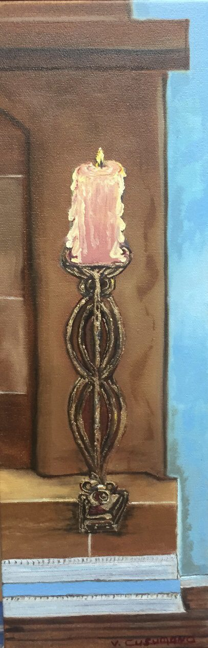 Victoria Cusumano, Candle on the fireplace